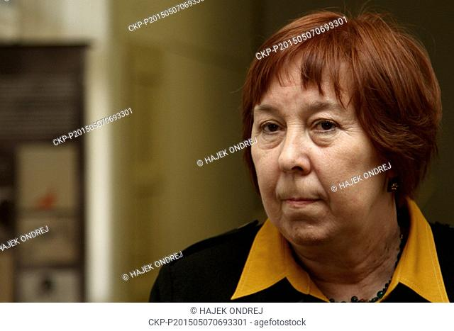 Miroslava Langhamerova co-organizer of the documentary exhibition Liberation of Places of Suffering and Courages held by Terezin memorial on the occasion of...