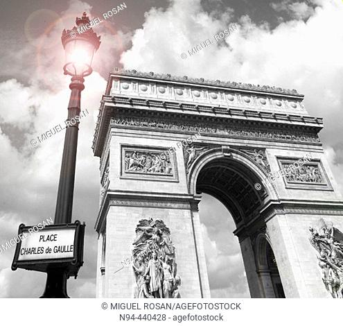 Triumphal Arch, Paris. France