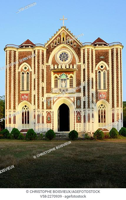 Myanmar, Mon State, Mawlamyine (Moulmein), Holy Family cathedral
