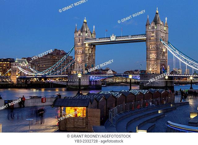 More London Christmas Market and The Tower Of London, London, England