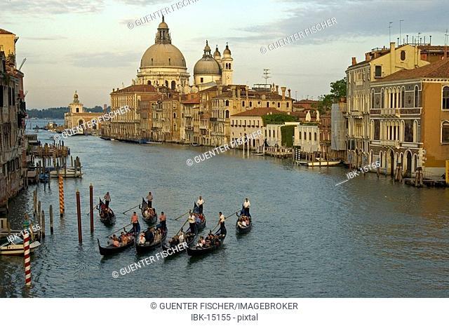 Dawn at Canale Grande Basilica della Salute Venice Italy