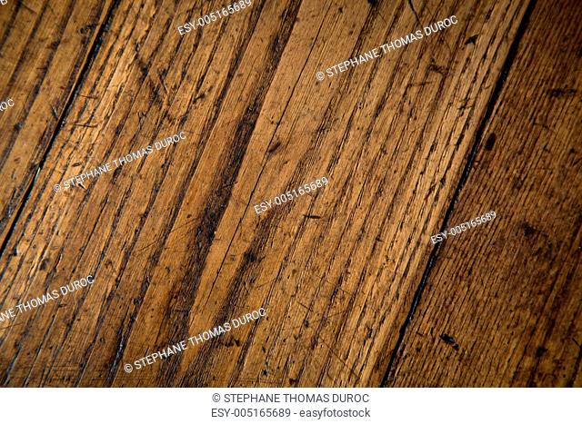 scratched and rough old wood texture