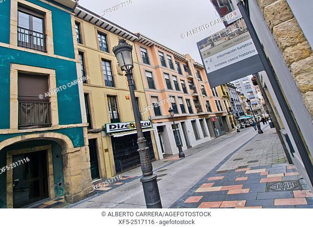 Old Fishermen's Quarter, Avilés, Asturias, Spain, Europe