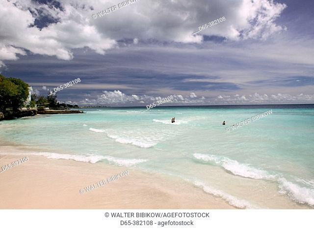 Barbados, St. Lawrence Gap: View of Dover Beach (NR)