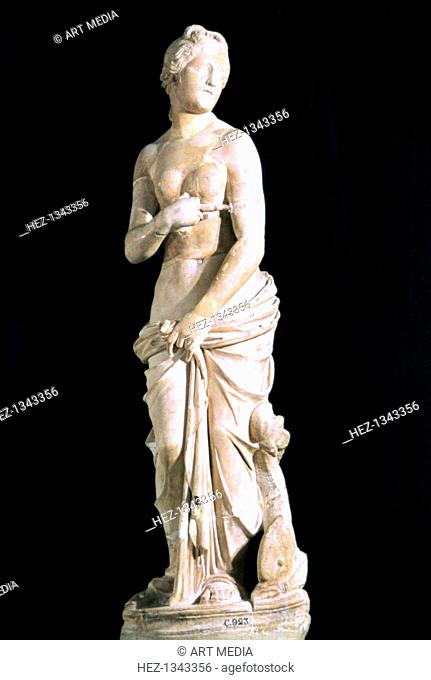 Statue of the chaste Venus, from Carthage. Located in the Bardo Museum, Tunisia