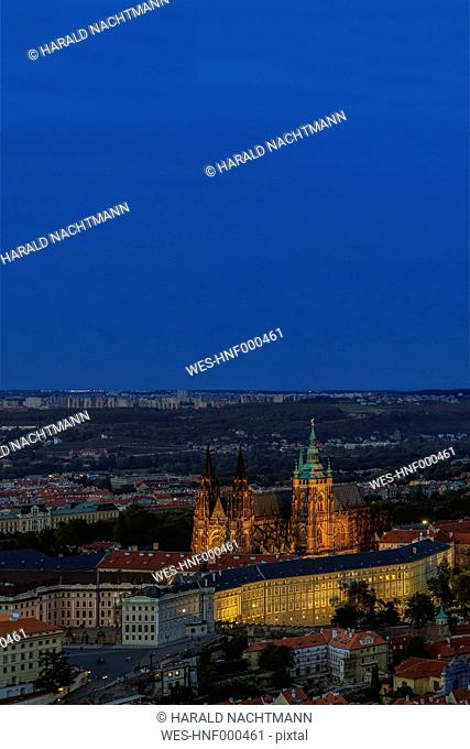 Czech Republic, Prague, Hradcany Castle and St Vitus Cathedral