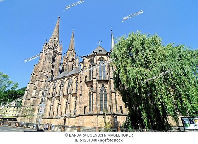 Elisabethkirche church, Marburg, Hesse, Germany, Europe