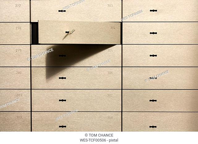 Open safety deposit box
