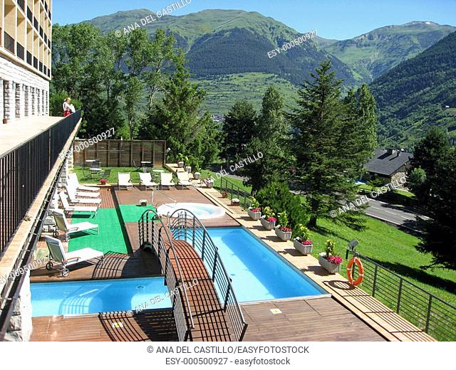 Viella state-run tourist hotel  Pyrenees Mountains  Spain