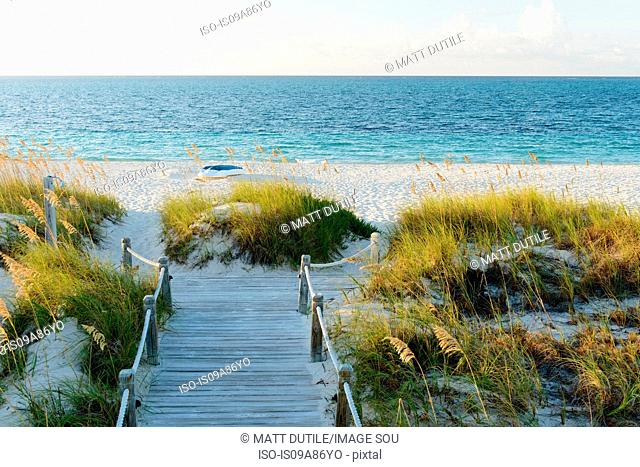Boardwalk, Grace Bay, Providenciales, Turks and Caicos, Caribbean