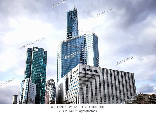 Skyscrapers of La Défense, Europe's largest purpose-built business district, Paris, France