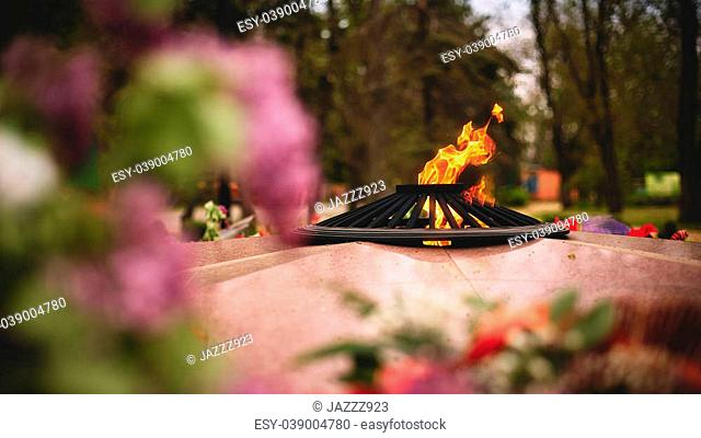 Photo of eternal Flame - symbol of victory in World War II
