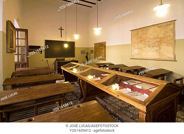 Classroom of the professor and poet Antonio Machado, The Old University, Baeza, Jaen-province, Spain