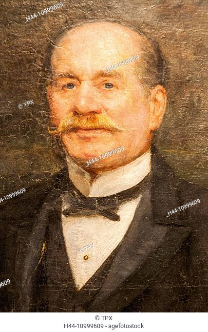 England, London, Forest Hill, Horniman Museum, Portrait of Frederick John Horniman by Trevor Haddon dated 1906