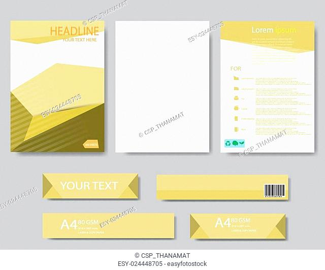 Abstract Geometric Vector template. Design template