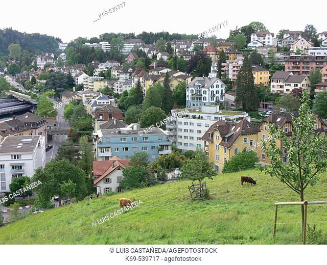 Houses. Lucerne. Switzerland