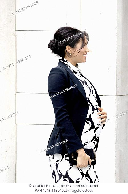 Meghan, Duchess of Sussex leaves at the King?s College London in London, on March 8, 2019, after attending a panel discussion convened by The Queen?s...
