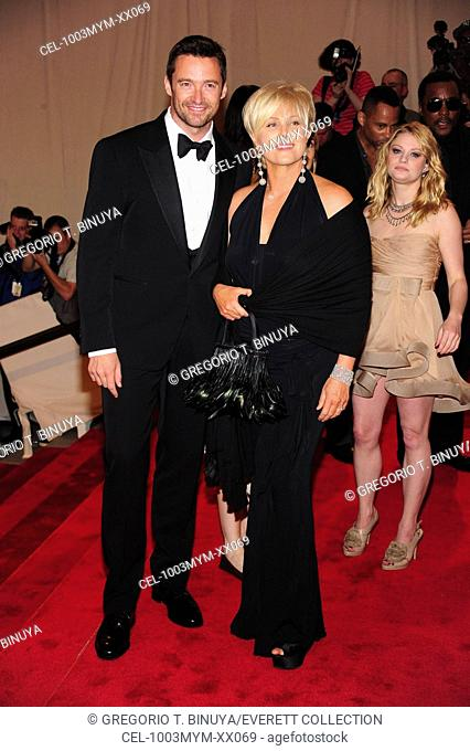 Hugh Jackman, Deborra-Lee Furness at arrivals for American Woman: Fashioning a National Identity Benefit Gala Co-Hosted by GAP for the Costume Institute