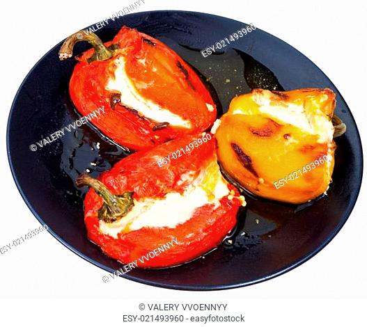 roasted peppers with cheese