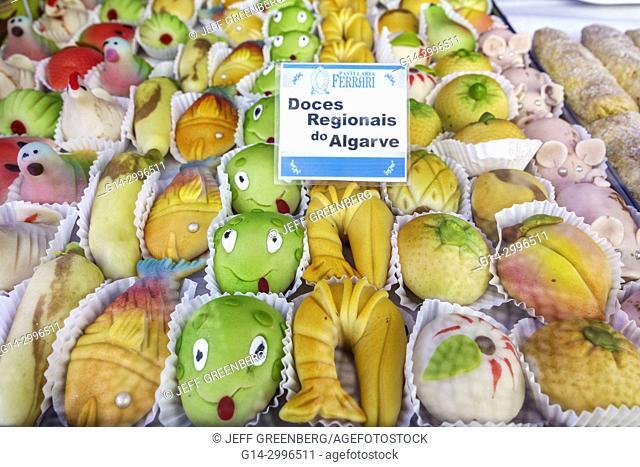 Portugal, Lisbon, Baixa, Chiado, historic center, Rua Augusta, Pastelaria Ferrari, bakery, confectionery, Algarvian Candies, doce do Algarve, sweets