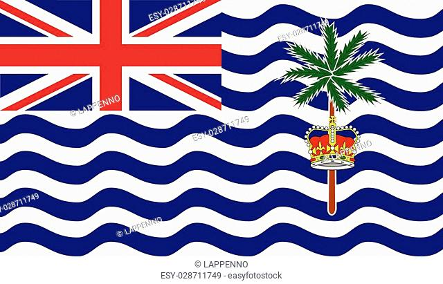 British Indian Ocean Territory flag vector illustration. created EPS 10