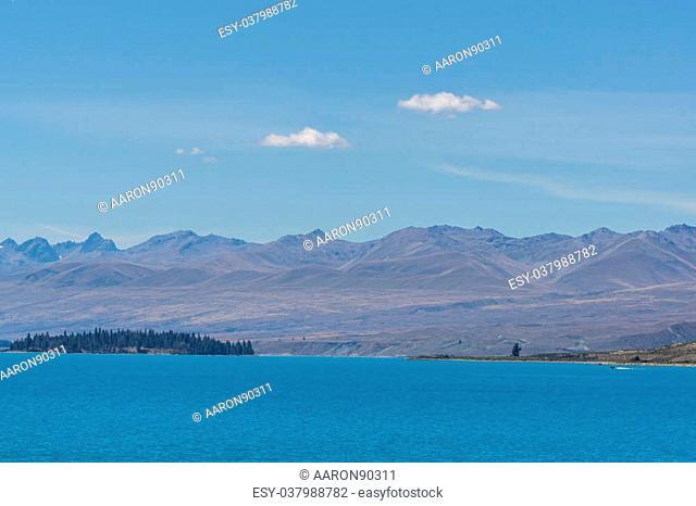 lake tekapo open view taken during summer in new zealand