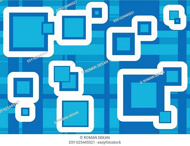 Geometric Texture Squares - Background Illustration, Vector