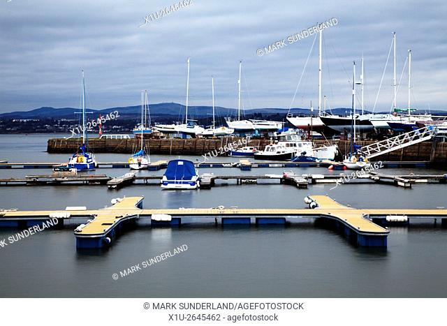 Yachts at Tayport Harbour on the Firth of Tay Tayport Fife Scotland