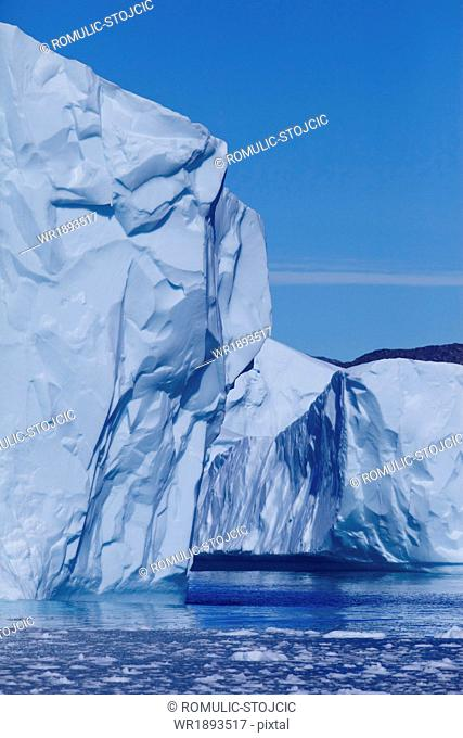 Iceberg and ice floes, Arctic Ocean, Greenland