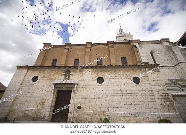 Tordesillas monumental town in Castile Leon Spain. St Mary church