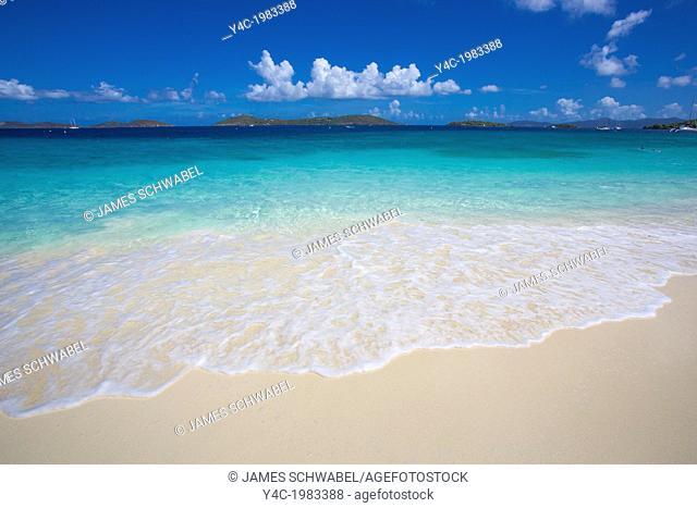 Solomon Beach in Virgin Islands National Park on the Caribbean Island of St John in the US Virgin Islands