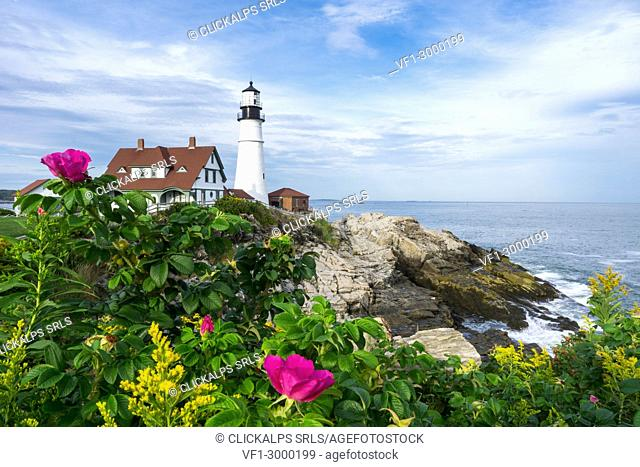 Portland Head Lighthouse, Cape Elisabeth; New England, Maine; USA