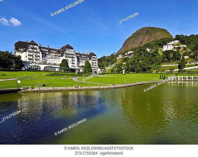 Brazil, State of Rio de Janeiro, Petropolis, View of the The Palacio Quitandinha.