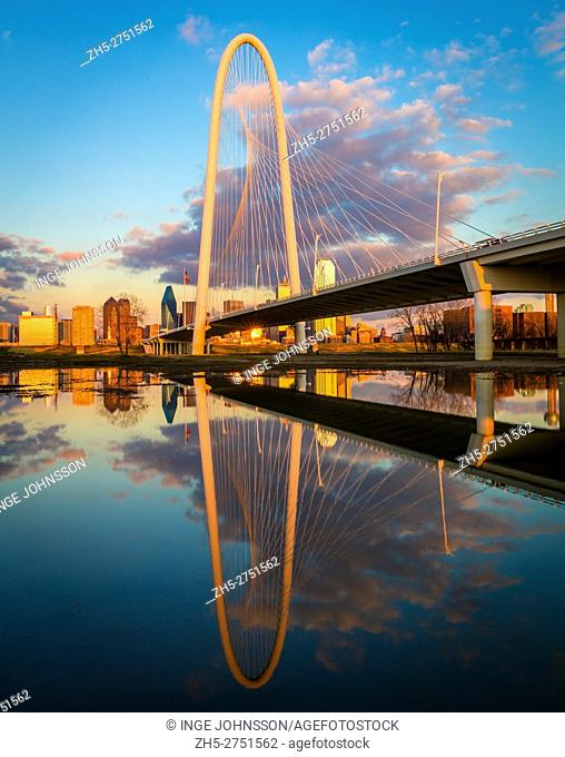 The Margaret Hunt Hill Bridge is a bridge in Dallas, Texas which spans the Trinity River and was built as part of the Trinity River Project