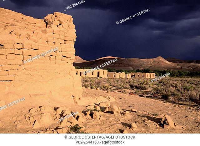 Fort ruins, Fort Churchill State Historic Park, Nevada