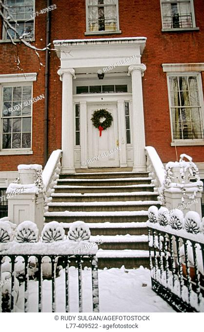 Brownstone in Greenwich village, New York City. USA