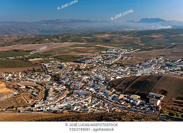 Panoramic view, Alameda, Malaga-province, Region of Andalusia, Spain, Europe
