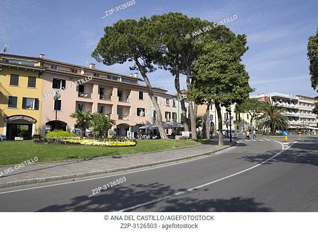 DESENZANO DI GARDA ITALY: Cityscape old town on April 28, 2018 in Garda lake Italy