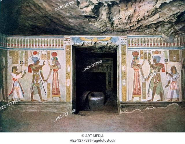 Tomb of Amun-her-khepeshef, son of Rameses II, Thebes, Egypt, 20th century. Amun-her-khepeshef was the firstborn son of Rameses II and Nefertari