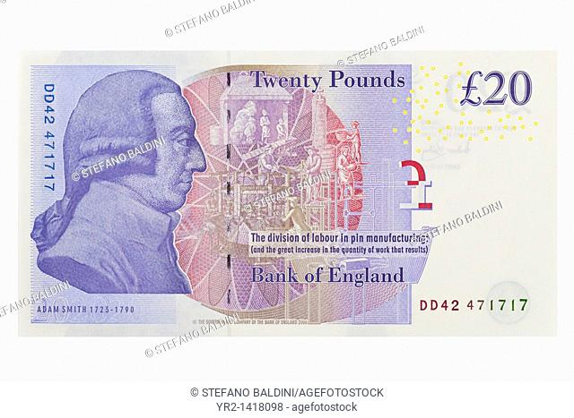UK twenty pound bill