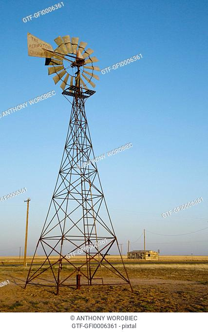 Agricultural windmill, Texas