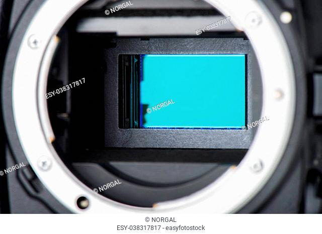 closeup clean camera sensor (CCD or Cmos)