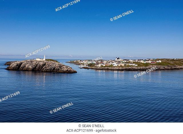 lighthouse and town Port aux Basques, Newfoundland, West coast Newfoundland