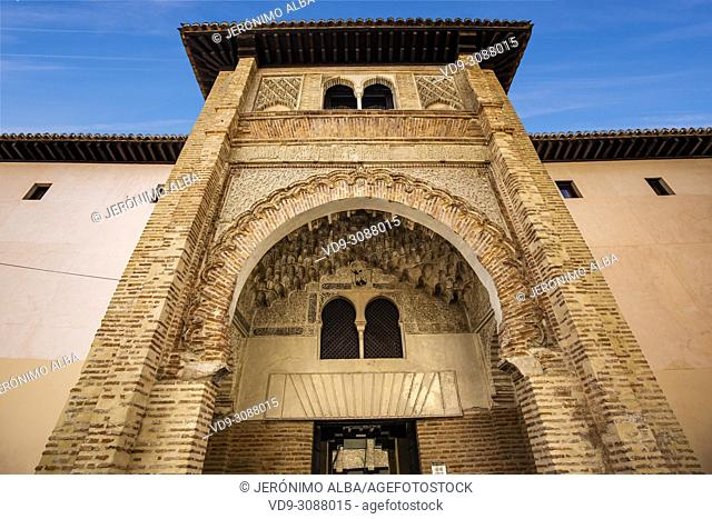 Corral de Carbón, old wheat market 14th century. Granada City. Andalusia, Southern Spain Europe