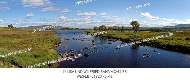 United Kingdom, Scotland, Highland, Perth and Kinross, Rannoch Moor, Loch Ba