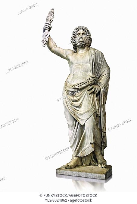 Statue of a male divinity known as Jupiter de Smyrne, a 2nd Roman statue from Smyrne, Izmir present day Turkey. The Royal Collection Inv No