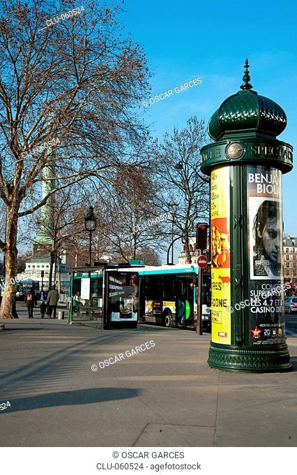 Place de la Bastille, Paris, France, Western Europe