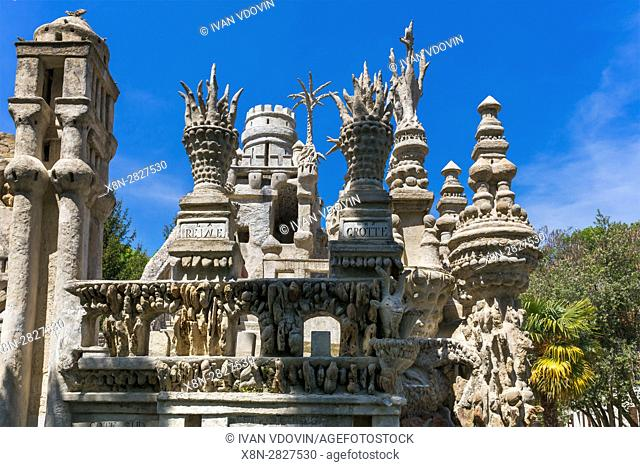 Le Palais ideal, Ideal Palace by Ferdinand Cheval, Hauterives, Drome department, France