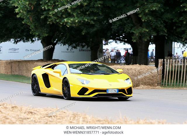 Goodwood Festival of Speed 2017 - Day 1 - Goodwood Hillclimb Featuring: Lamborghini Aventador S Where: Chichester, United Kingdom When: 29 Jun 2017 Credit:...