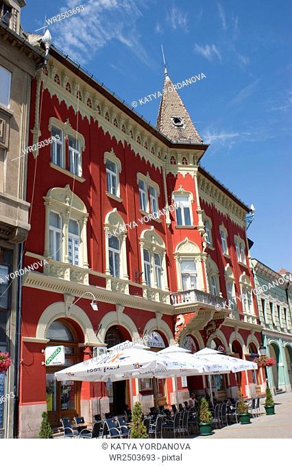 Serbia, Vojvodina, Subotica,street scene